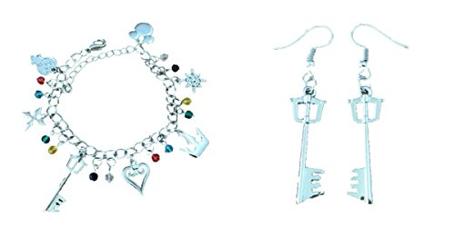 High School Musical Heart Necklace - Kingdom Hearts 2-Pack Bracelet & Earrings in Gift Box by Superheroes