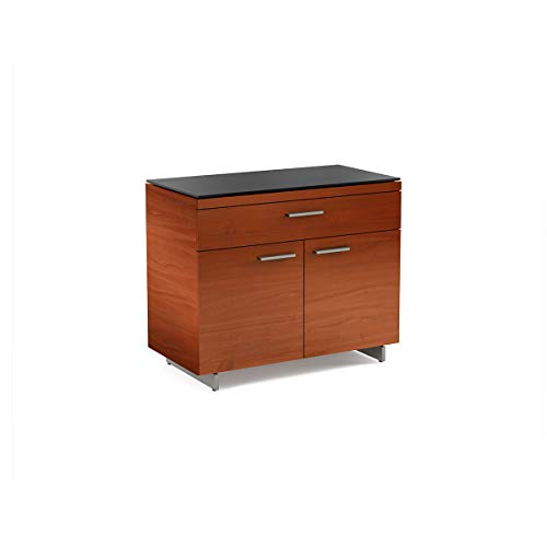 Cabinet Cherry Bdi - BDI 6015 CH Sequel 3-Drawer File Cabinet, Natural Cherry