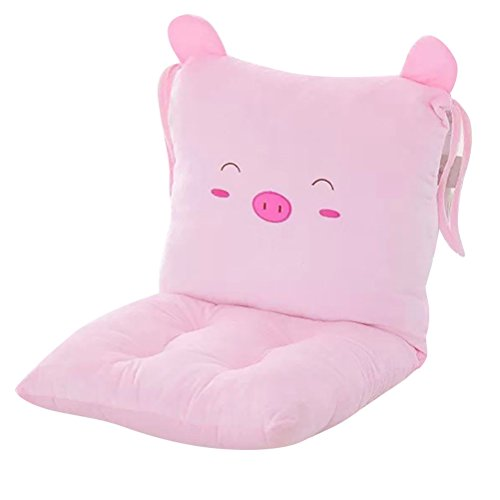 ChezMax Joint Detachable Rocking Chair Seat Back Cushion Set with Ties for Teen Girl Bed Study Play Room Pink Pig by ChezMax