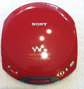 Sony D-E220 Red ESPMAX CD-Walkman Personal CD Player Red Col