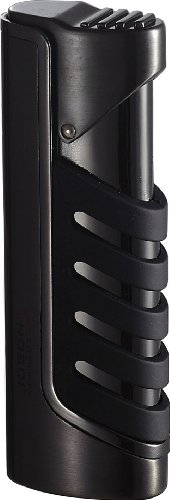 Visol Presa Gunmetal and Black Wind-Resistant Torch Flame - Lighter Single Torch Flame
