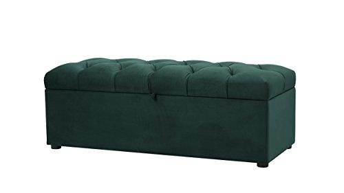 Jennifer Taylor Home 85181-892 Modern Upholstered Tufted Living Room Storage Bench, Hunter Green ()