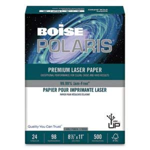 Boise Cascade HD:P Presentation Laser 3 Hole Punch Paper, 96 Brightness, 24lb, LTR, WE, 500/Rm (2 Reams)
