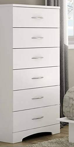 Amazon.com: Chester Drawers - White Wood Lingerie Chest Six ...