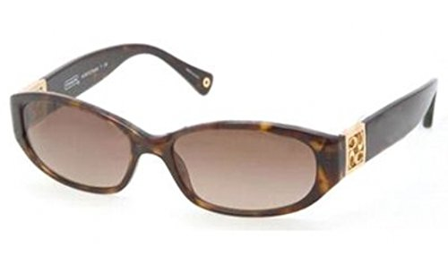 (Coach Hope HC8012 500113 - Dark Tortoise (Dark Brown Gradient Lens) 56mm)
