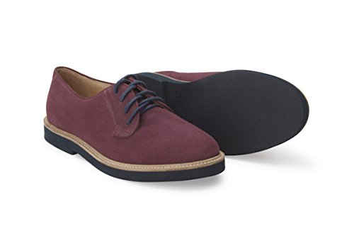 Soul 36 Gracie 69 Suede Lace up Oxfords (8, Burgundy) by Soul 36