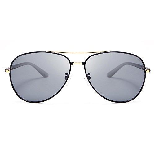 de conducción Gafas Metal para Color Hombres Prueba MY de Sol Marco luz Sombras Gafas de Brown de Sol Retro Polaroid UV400 Lentes a Gold Tw4zqnEz8
