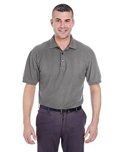 (Ultraclub Mens Whisper Pique Polo 8540 -Graphite M)