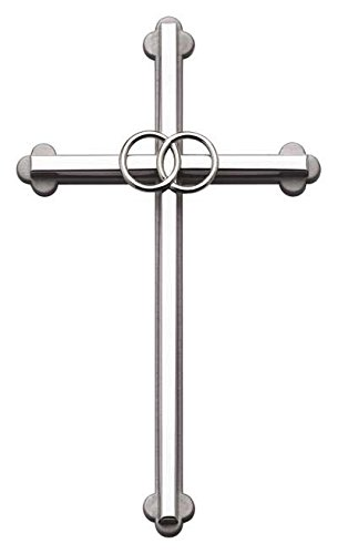 (Cathedral Art NC303S Wedding Cross, 8-Inch, Silver)