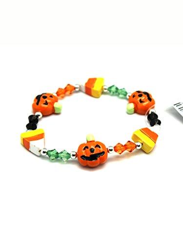 Pumpkin & Candy Corn Halloween Bracelet by Ganz ()