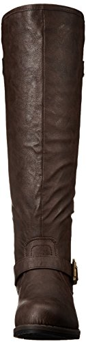 High Womens Calf Wide Wide Collection Riding Journee Studded and Boot Wide Calf Knee Sized Regular Extra Calf Brown U4gU7wxp