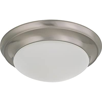 Nuvo Lighting 60/2623 3-Light 15-Inch Flush Mount Light with Alabaster Glass