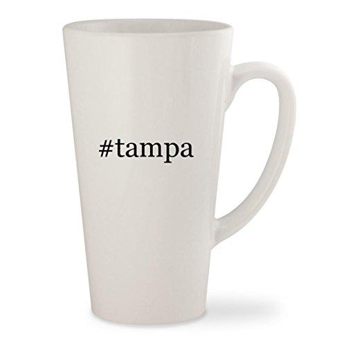 #tampa - White Hashtag 17oz Ceramic Latte Mug Cup