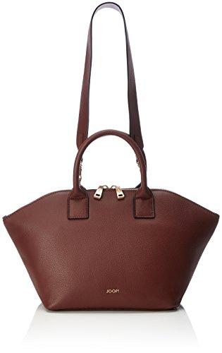 JOOP Nature Grain Venja Handbag Mhz - Bolso de mano Mujer Rojo (Cognac Old 704)