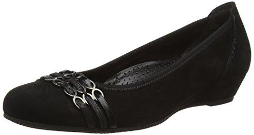 Gabor - Zapatos de cordones de cuero para mujer negro Moro, color negro, talla 38