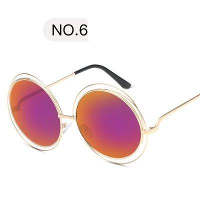 Sol Gafas Weiß Redondo Naranja Estilo Fuego Bastidor Uv400 De Sol Original Con Gafas De Cobre Cuadro De Mujer KLXEB q4wzHpz1