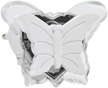 LED Steckdose Nachtlicht LED0,4W230V weißer Schmetterling