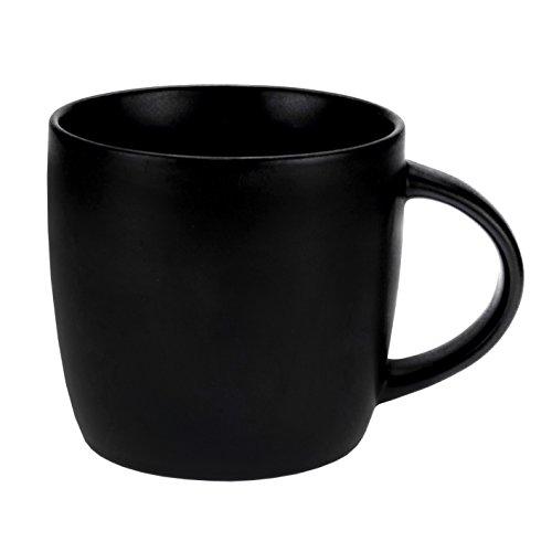 LEANDALE Ceramic Coffee Mug Matte Black 15 OZ With Gift Box,Gift for Dad,Grandpa,Papa,Man or Birthday Gift