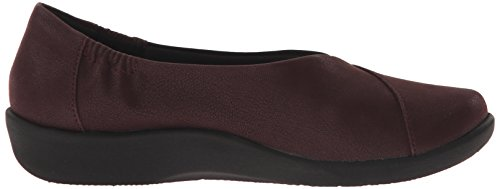 Clarks mujer cloudsteppers Sillian Jetay soporte de Burgundy Synthetic Nubuck