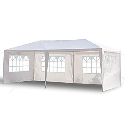 3 x 6M Four Sides Waterproof Tent Gazebo with Spiral Tubes White : Garden & Outdoor