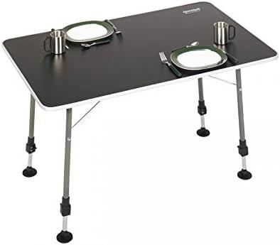 Linder Campingtisch faltbar 48x48x42cm schwarz Metall Polyester 2 Getr/änkehalter Tisch