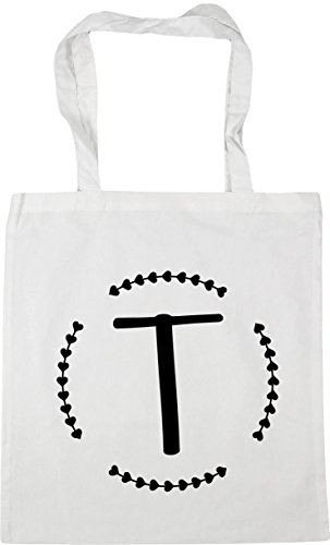 litres HippoWarehouse Bag 10 42cm Shopping x38cm Tote White Beach T Initial Gym YxqYvzwr