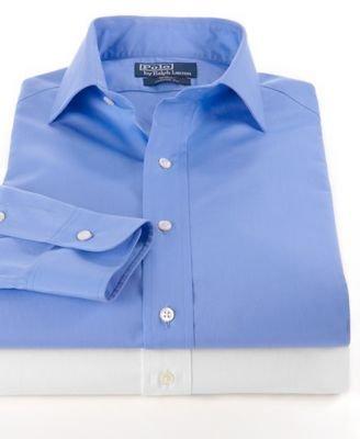 250e187744 Mens Polo Ralph Lauren Regular Fit Poplin Regent Dress Shirt (16 ...