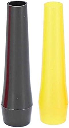 emtrada GmbH Smokezilla Boquillas higiènicas por Cachimba | Kit de 100 Boquillas desechable | 100 Piezas Bocal higiene por Narguile (Amarillo/Negro)