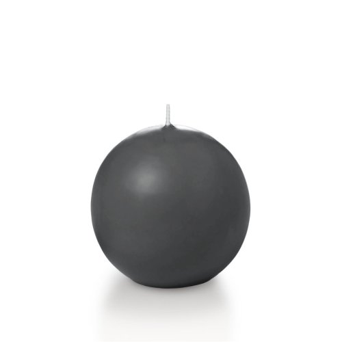 "Yummi 2.8"" Gray Sphere / Ball Candles - 3 per pack"