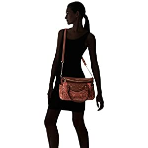 Desigual Bols_winter Valkyrie_loverty – Borsa Donna, Marrone (Leather Brown), 14x24x33 cm (B x H T)