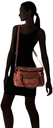 H X T Borsa Valkyrie winter Brown Desigual b 14x24x33 loverty Donna leather Bols Cm Marrone wOqnCUT