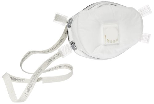 3M 8233 N100 Disposable Particulate Cup Respirator with Cool Flow Exhalation Valve and Seal, Standard (Case of 20) by 3M
