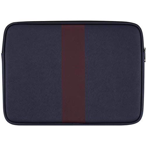 JACK SPADE Sleeve for 13in MacBook Pro, 13in MacBook Air, and other 13in Laptops (Navy/Burgundy Stripe - JSMB-002-NVYBU) (Renewed)