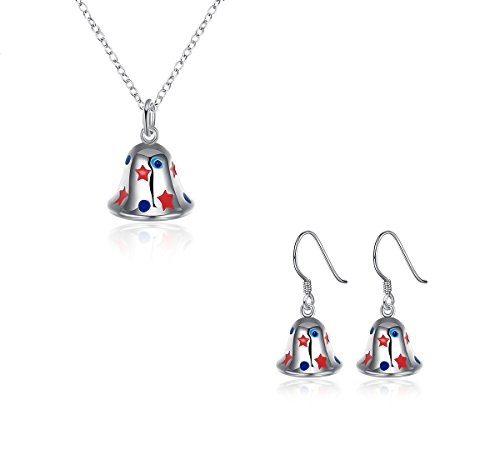iWenSheng Pendant Necklace Earrings Christmas
