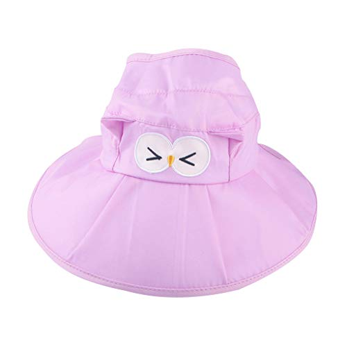 Tantisy ♣↭♣ Toddler Baby Candy Color Sun Protection Hats/Foldable Easy to Carry/Breathable Visors/Adjustable for Girls Boys ()