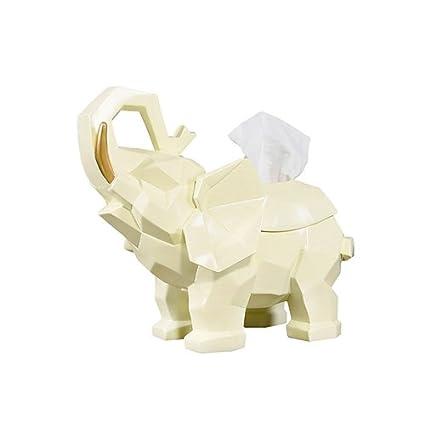 Shelfhx Decoraciones de Lujo Artísticos de Lujo Adornos de Elefante Sostenedor de la servilleta de la