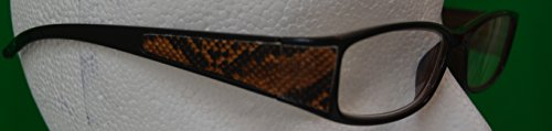 Eye Event Exotic Skin - Brown Snakeskin Reader - Exotic Frames Eyeglass