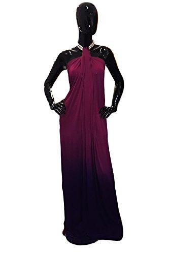 Hipknoties - The Convertible Maxi black Dress Maternity Maxi dress women wrap skirt summer maxi dress plus size dress faux wrap clubwear mini dress - Berry Ombre - Maxi