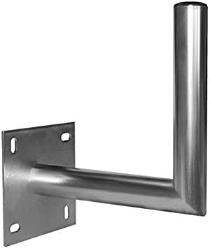 Xeobox Brazo de repetidor de 45 cm para Antena parabólica o Antena – Acero acodado – ø40 mm Zinc