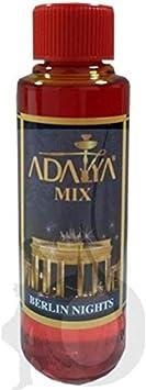 Melaza Adalya Berlin Nights para shisha SIN NICOTINA - Sabor: Melocotón y Menta (170 ml) - Sustitutivo de tabaco sin nicotina para cachimba