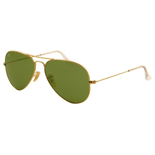 Ray Ban RB3025 Aviator Sunglasses-001/58 Gold Gold (Green Polar - Ray Gold Ban