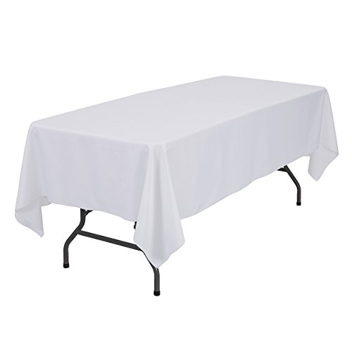 Remedios 60 x 102-inch Rectangle Polyester Tablecloth - for Wedding, Party, Restaurant, or Banquet use, White