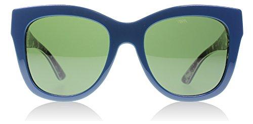 D&G Dolce & Gabbana Women's 0DG4270 Square Sunglasses, Top Petroleum/Print Rose Grey/Green, 55 mm by Dolce & Gabbana