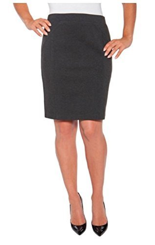 Mario Serrani Bodymagic Slimming Skirt For Women (Large, Charcoal)