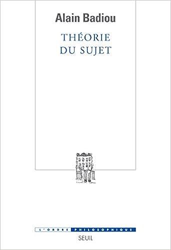 Théorie du sujet (Lordre philosophique): Amazon.es: Alain Badiou: Libros en idiomas extranjeros