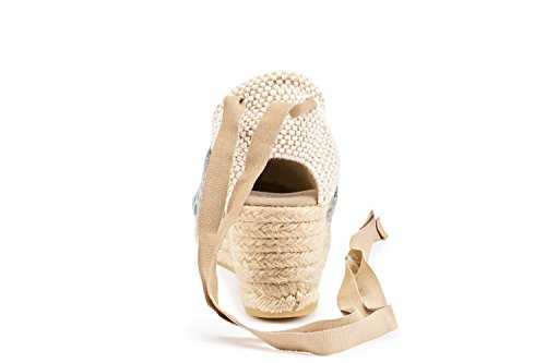 Toe Bubbleblue In Made tie Soft Heel Ankle Escala Spain Espadrilles Closed Classic 5