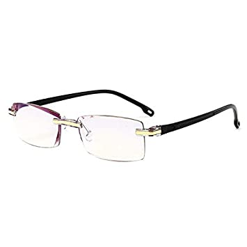 48c413a3334 Computer Reading Glasses Blue Light Blocking -Rimless Reading Glasses +1.50  for Men Women Reader