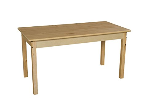 Wood Designs WD84824 Child's Table, 24″ x 48″ Rectangle with 24″ Legs Review