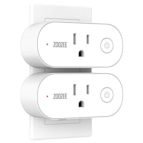 et Compatible With Alexa, Echo, Google Home and IFTTT, ZOOZEE Mini Smart Socket with Energy Monitoring and Timer Function, No Hub Required, 16A(2 PACK) ()