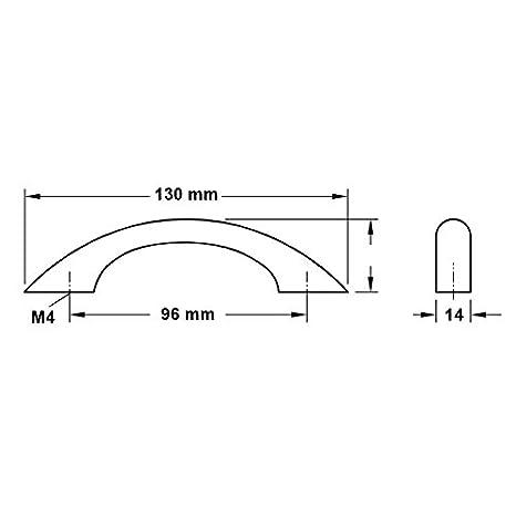 h/être GedoTec/® Poign/ée de meuble Poign/ée barre Poign/ée en bois 2 Tailles H/être ou Ch/êne Distance inter-trous 96 ou 128 mm fabriqu/é en Allemagne A 130 x B 28 x C 96 mm